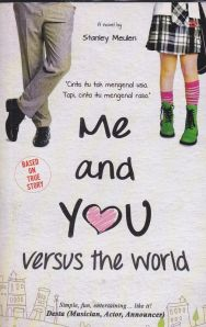Sampul novel me and you versus the world