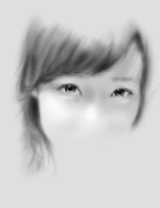 wajah tanpa mulut cewek wanita sketsa